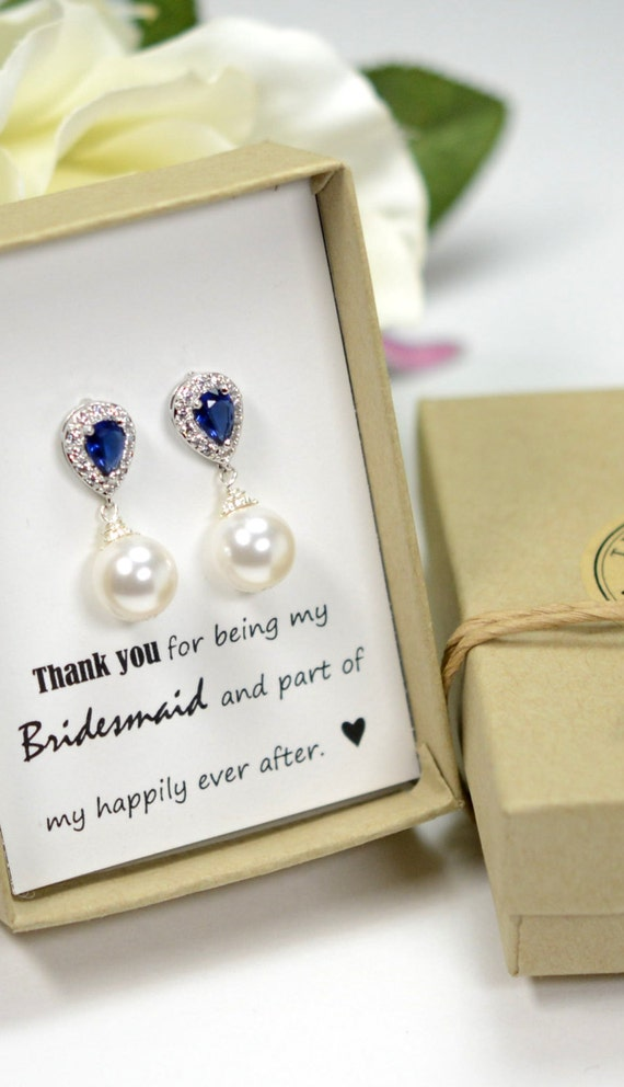 Wedding Gift Jewelry : blue Wedding Jewelry Bridesmaid Gift Bridesmaid Jewelry Bridal Jewelry ...