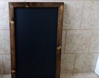 Large Chalkboard -  Wood Framed Chalkboard - Rustic Chalkboard - Wooden Chalkboard - Kitchen Chalkboard - Tall Chalkboard With Ledge 22 x 36