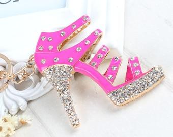 Pretty shoe keychain