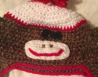 Sock Monkey  0-6 mos