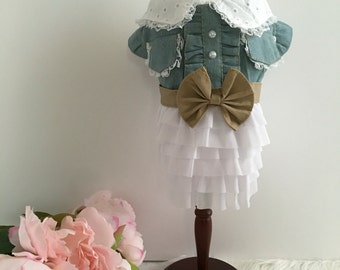 Dixie- Dog dress, puppy dress, dog clothes, puppy clothes, Country Chic