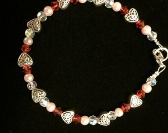 Valentine's Metal Heart Bracelet