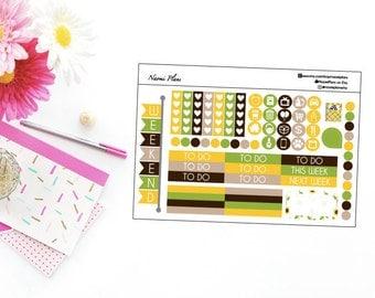 Sunflower Fields Collection // Functional - Horizontal Erin Condren
