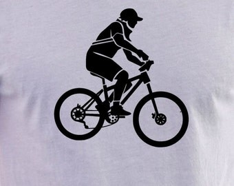 Mountain Bike Rider  print T-shirt