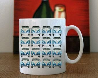 10 oz Ceramic Mug with A Camper Van Print, Camper Van Coffee Mug, Camper Van Print, Camper Van Printed Mug, Camper Van Mug, Camper Van.