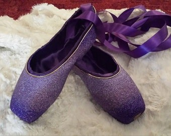 Stunning Custom-Ordered Pointe Shoes Available Upon Commission (Shoes pictured are not for sale)