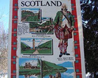 Historical Scotland // Vintage Tea Towel // Scottish Souvenir // Causeway // Bonnie Prince Charlie // Wall Hanging // Edinburgh