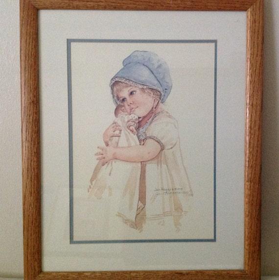 Jan Hagara Lithograph: Jan Hagara Betsy Signed And Numbered Vintage