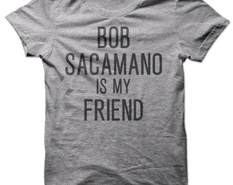 Bob Sacamano Is My Friend Short Sleeve Tee-Heather Grey