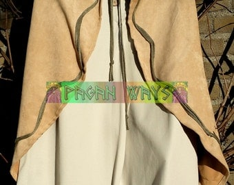 Baggy pagan pants - light brown trousers - alternative bohemian hippie indie folk festival pixie psytrance goa fairy faery fantasy clothing