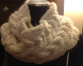 Knit Cabled Infinity Scarf