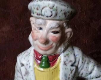 Vintage Albertas Scotch Decanter Ceramic Scotsman