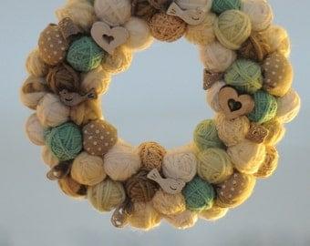 Baby Spring Wreath door-Summer Wreath-Wedding Wreath-Door Decor-Shabby Chic-Garland fuoriporta-spring-baby-wedding-Passover-handmade