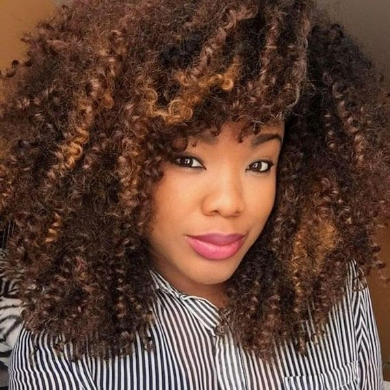 Crochet Hair Unit : ... Style Curly Bang Afro Crochet Style Crochet Weave Crochet Braids