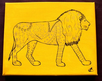 Tribal Lion Painting