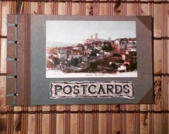 Hand Bound Post Card Album