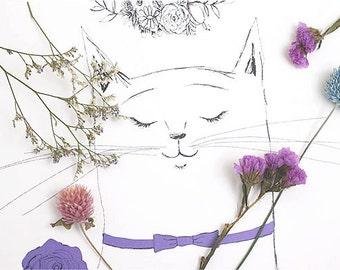 """A3 illustration poster / """"Miss.Violet"""""""