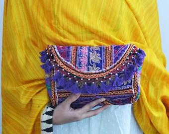 MAINA CLUTCH- Banjara bag, Banjara Clutch India, Boho Bag, Gypsy Bag