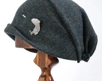 Handmade Harris Tweed Gypsy Beanie Hat