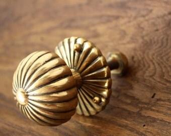 Vintage Solid Brass Door Knob / Handle