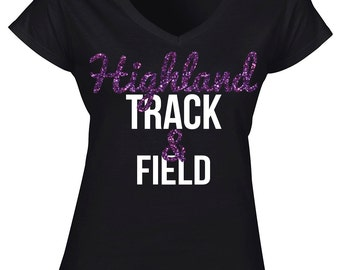 Custom Womens Track & Field V-Neck