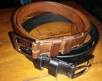 Custom Sized Leather Belt