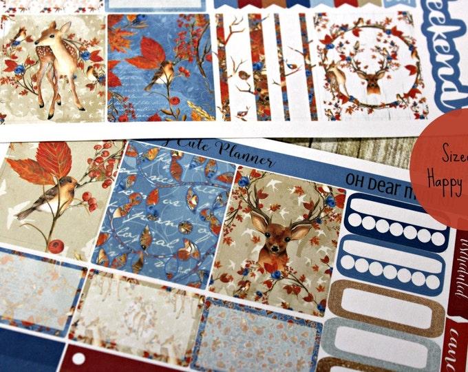 Happy Planner Stickers - Weekly Planner - Erin Condren Life Planner -  Functional stickers - Oh Deer - Fall stickers