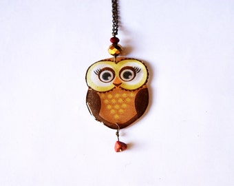 She owl necklace, gift for girl, Owl  pendant Gift Idea, Owl Lovers Gift, Owl jewelry, pendant bird gift for daughter, Owl Gift for Sister