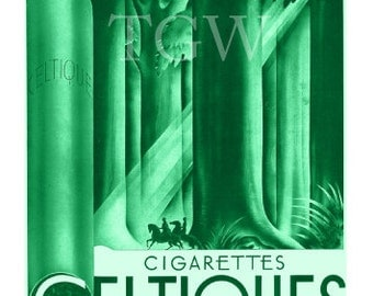 Celtiques Art Print, Vintage Advertisement, Art Deco, Surrealism