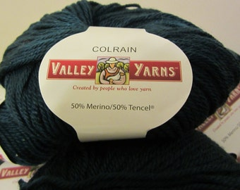 Colrain by Valley Yarns (merino & tencel) in Ocean Blue