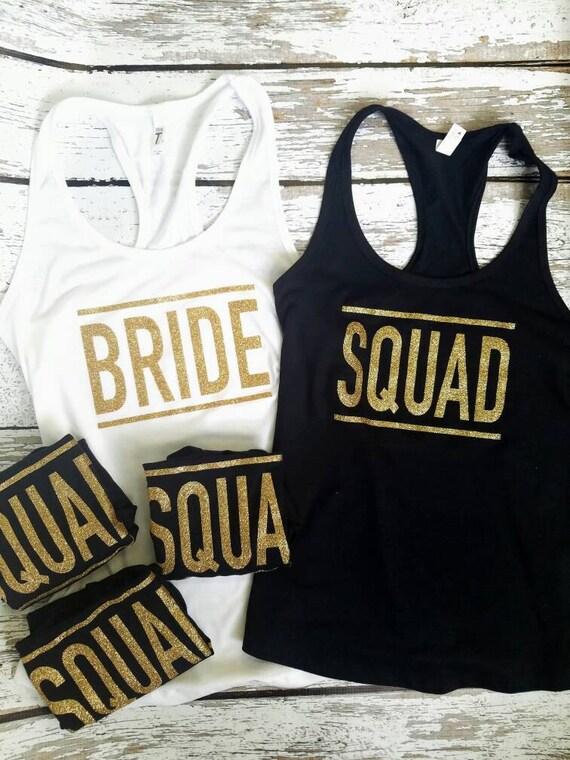 Bride Tank Top / Squad Tank top / Bridal Party Tank tops / Bridesmaid Tank / Maid of Honor Tank / Bachelorette Tanks
