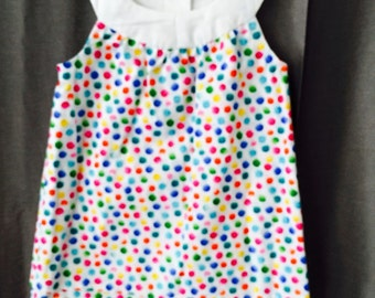 Multi color dotted sundress