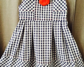 Black and white gingham check sundress
