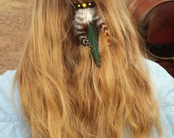 Feather Hair Piece – Barrette – Free Shipping