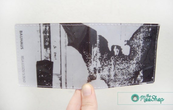 bauhaus vinyl wallet bella lugosi 39 s dead album cover. Black Bedroom Furniture Sets. Home Design Ideas