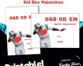 Instant Download Card - Cam Newton - Dab on Em - Panthers Valentine - One Sided Card - Printable - School style Valentine Cards