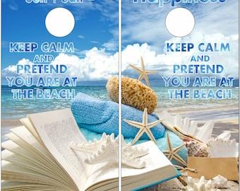 Keep Calm Beach Theme Book LAMINATED Cornhole Wrap Bag Toss Decal Baggo Skin Sticker Wraps