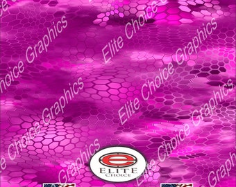 "Chameleon Hex 3 Pink 15""x52"" or 24""x52"" Truck/Pattern Print Tree Real Camouflage Sticker Roll or Sheet"