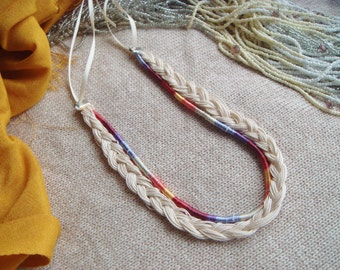 Handmade Fiber Necklace