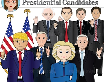 Presidential Candidates 2016 Clip Art