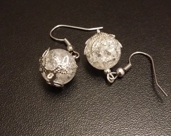 Frozen Snowball Earrings