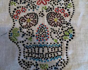 Sugar skull Iron on