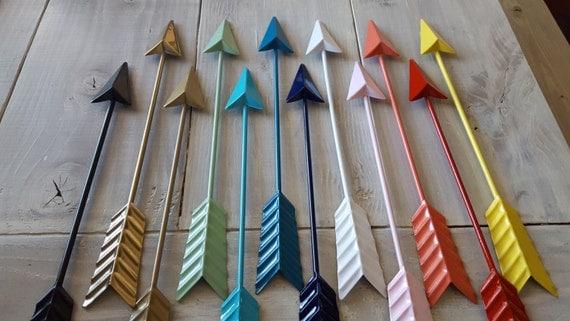 Grey Arrow Wall Decor : Metal arrow wall decor dorm art