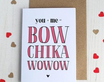 Bowchikawowow Anniversary Card