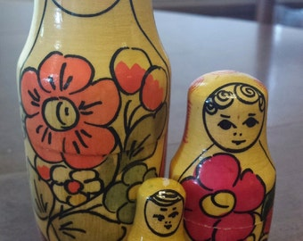 1977 Vintage Polkhovsky Maiden Russian Nesting Dolls