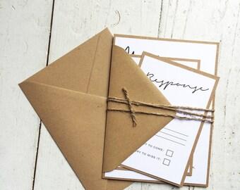 Rustic elegant wedding invitation set, Rustic wedding, Elegant invitation, shabby chic wedding invitation