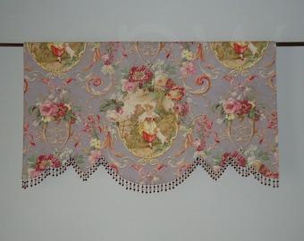 Richloom Fragonard Lilac Toile Valance, Lined