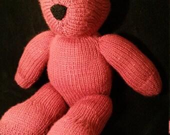 Knitted teddy bear 40cm x 20cm x 14cm