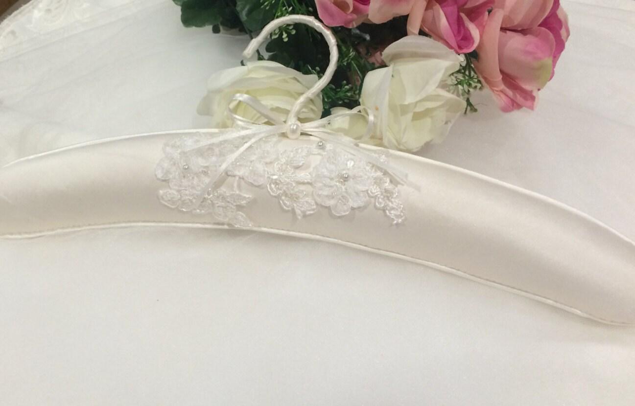 Bridal Gown Hanger Wedding Dress Hanger Silk By AbeilleHeirlooms
