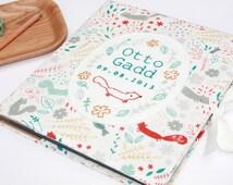 Personalised Baby book, memory scrapbook, Woodland animals